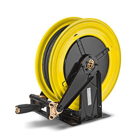 KARCHER Hose Reel With 20m Hose, Steel, Yellow-Black Painted