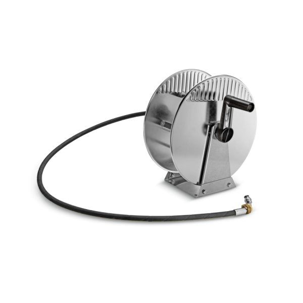 KARCHER 20m Manual Hose Reel, Stainless Steel 26375660