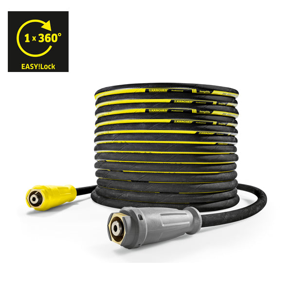 KARCHER Longlife 400, High Pressure Hoses With Unions On Both Sides, DN8, 20m, 400bar, EASY!Lock 61100270