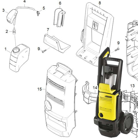 KARCHER K3.68 Spare Parts Diagrams 1601752