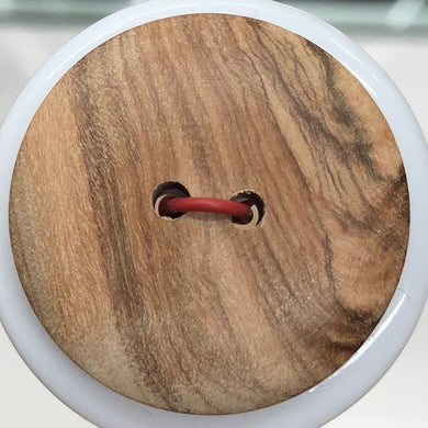 2 Hole Olive Wood Plain