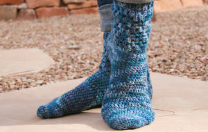 Moonlight Crocheted Socks