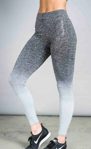 Balanced Ombre Leggings Grey Fade