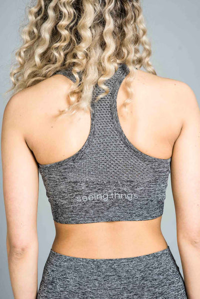ST Balanced Ombre Sports Bra Grey Fade