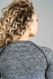 Balanced Ombre Long Sleeve Top Grey Fade