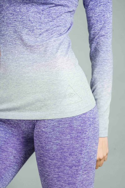 ST Balanced Ombre Long Sleeve Top Purple Fade
