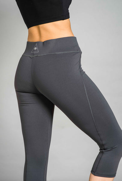 ST Chic Capri Leggings Charcoal