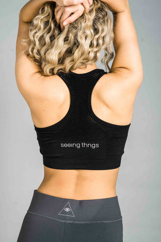 ST Balanced Ombre Sports Bra Black