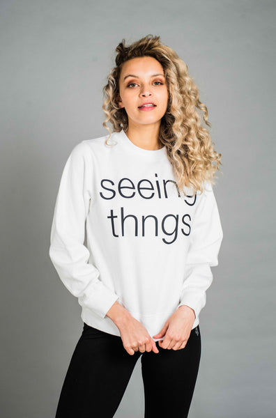 ST Pretty Pastels Sweatshirt White