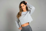 ST Crop Sweatshirt Sport Grey
