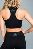 Athletic Sports Bra Black/White