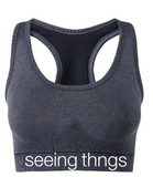 Seamless Denim Sports Bra