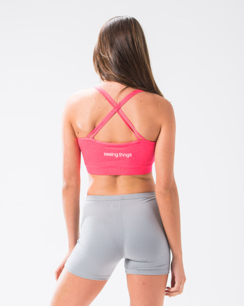 ST Strapy Sports Bra Hot Coral