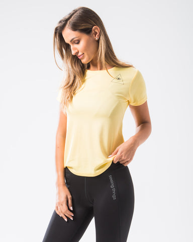 ST Girlie Tech Tee Sherbert Lemon