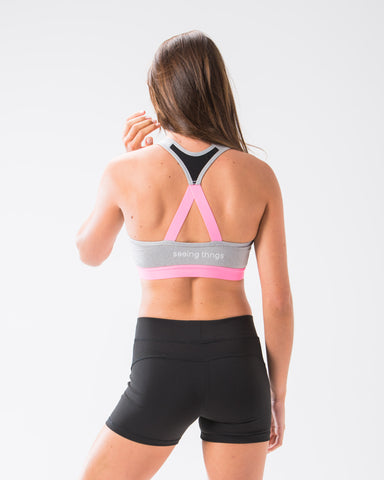 ST Performance Sports Bra Silver Melange