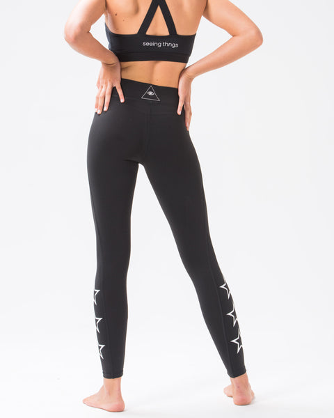 ST Star Leggings Jet Black