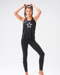 Shoot for the Stars Flowy Tank Black
