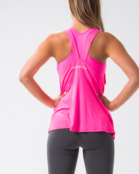 Shoot for the Stars Flowy Tank Neon Pink