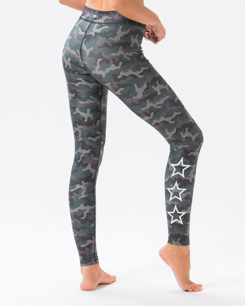 ST Star Leggings Green Camo