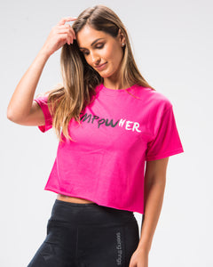 EmpowHER Crop Tee Heliconia