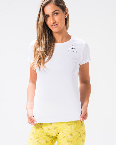 ST Girlie Tech Tee White