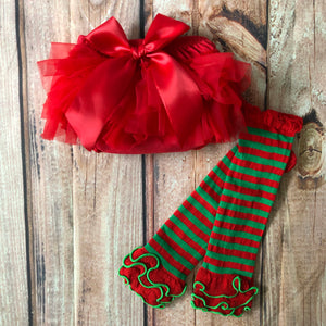 Elf Stripe Leg Warmers