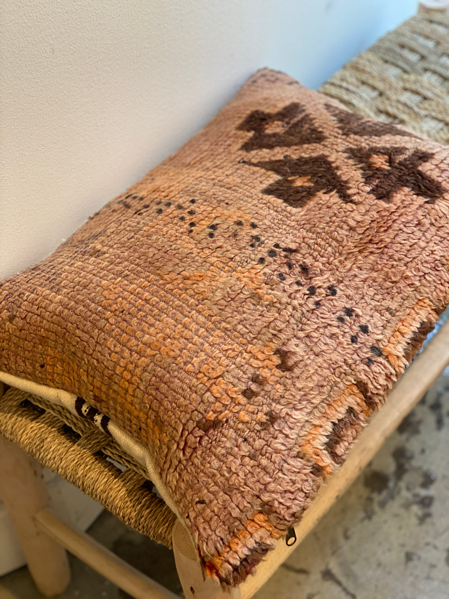 brown vintage eco friendly cushion