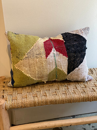 colorful modern vintage pillow