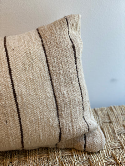 beige wool moroccan vintage pillow