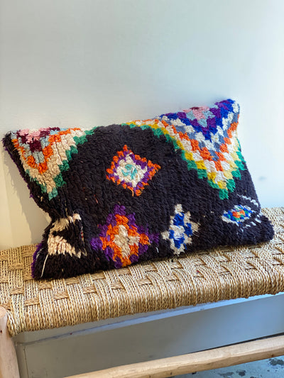 colorful moroccan vintage pillow