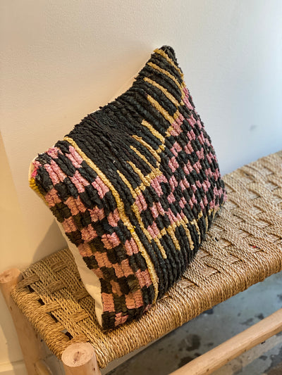 boucherouite recycled pillow