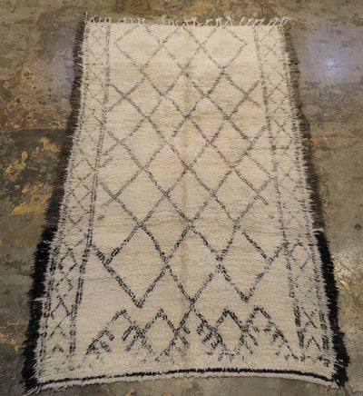 Moroccan wool rug Soft vintage beni ourain rug vancouver