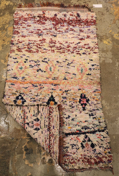 BP101-pink-berber-women-handracted-handmade-colorful-recycled-clothes-atlas-mountains-tapis-berber-marocain-fait-main-recycle-couleur