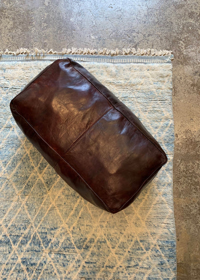 Moroccan Long Leather Ottoman
