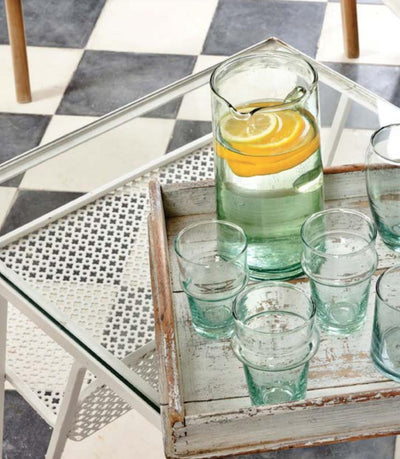 Recycled Glasses and Carafe