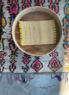 Set of Two Moroccan Handmade Straw Placemat Yellow