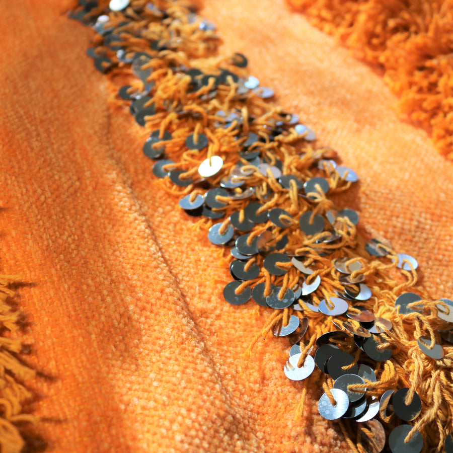 Orange-berber-blanket-handira-wedding-blanket-couverture-de-mariage-berber-fait-main
