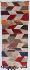 flat weave kilim large area rug, faded multicolored with tassels, bohemian and eclectic suits living room, bedroom and dinner room perfectly