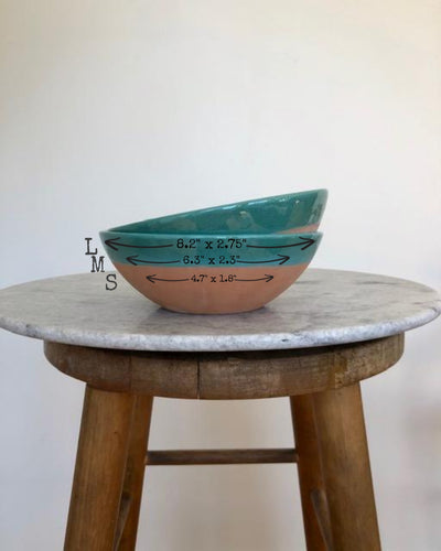 handmade terracota bowl sizes