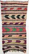 flat weave kilim large area rug, faded multicolored with no tassels, suits living room, bedroom and dinner room perfectly