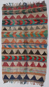flat weave kilim large area rug, multicolored with some tassels, suits living room, bedroom and dinner room perfectly