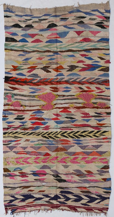 flat weave kilim large rug, multicolored with no tassels, suits living room, bedroom and dinner room perfectly