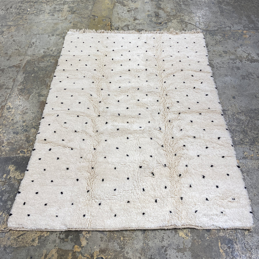 area wool rug soft white polka dot tassels suits bedroom living room