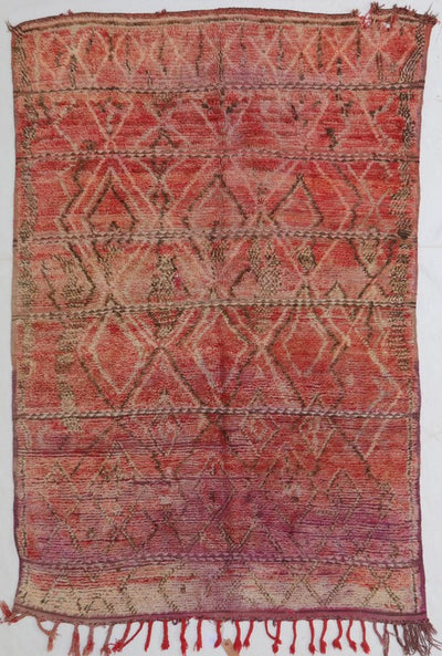 vintage red moroccan rug with tribal berber signs and design , perfect for accent rug in a living room or bedroom, wool is easy to clean