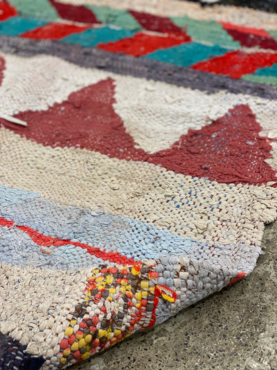 colorful kilim boucherouite rug