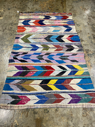colorful boucherouite carpet