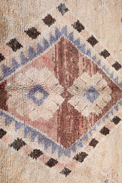 vintage moroccan rug with tribal designs - beige tassel area carpet