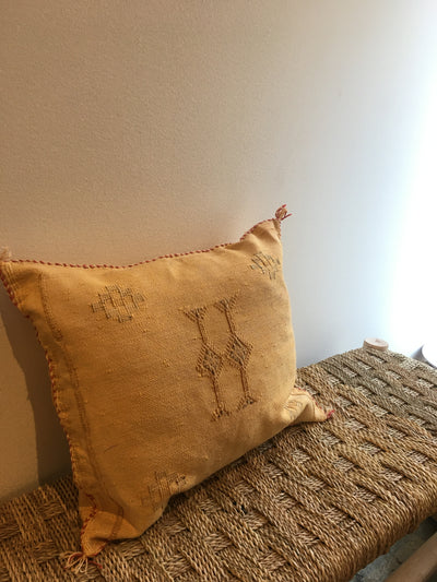 yellow moroccan decorative pillow