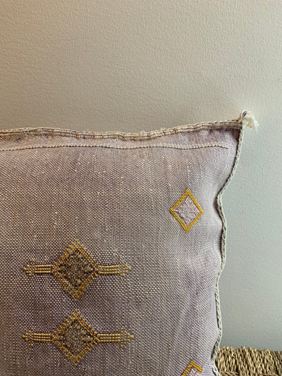 purple bohemian pillow