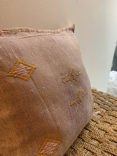 lilac moroccan pillow